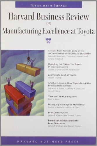 9781422179772: Harvard Business Review on Manufacturing Excellence at Toyota (Harvard Business Review Paperback Series)