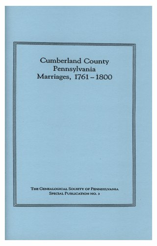 9781422367377: Cumberland County, Pennsylvania, Marriages, 1761-1800