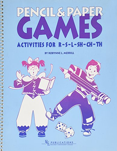 9781422394502: Pencil and Paper Games: Activities for R-S-L-SH-CH-TH