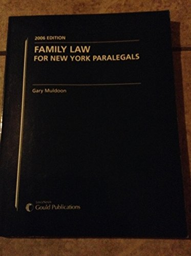 Family Law For New York Paralegals: Gary Muldoon