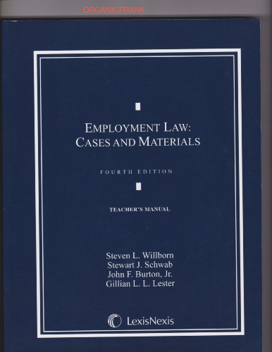 Teacher's Manual to Employment Law: Cases and: n/a