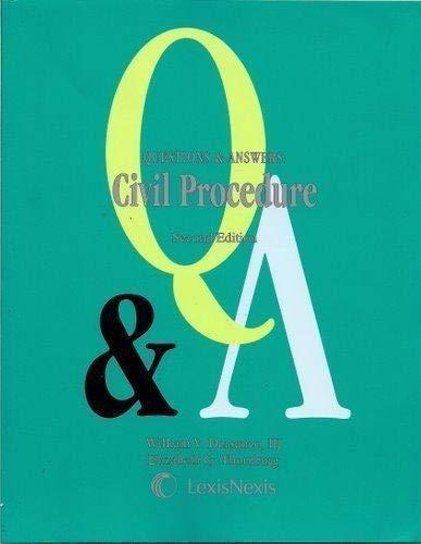 9781422411728: Questions & Answers: Civil Procedure