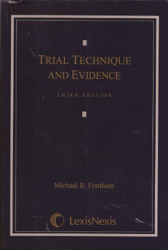 9781422417928: Trial Technique and Evidence