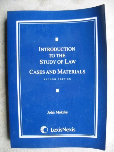 9781422419878: Introduction to the Study of Law Cases and Materials (2nd Edition)