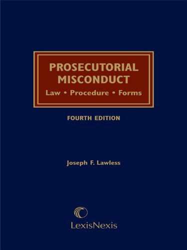 9781422422137: Prosecutorial Misconduct: Law, Procedure, Forms