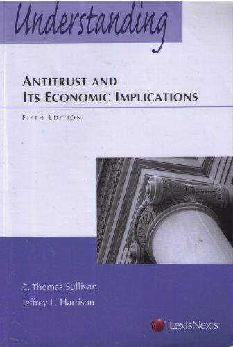 9781422422618: Understanding Antitrust and Its Economic Implications