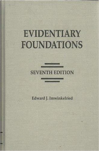 9781422422830: Evidentiary Foundations