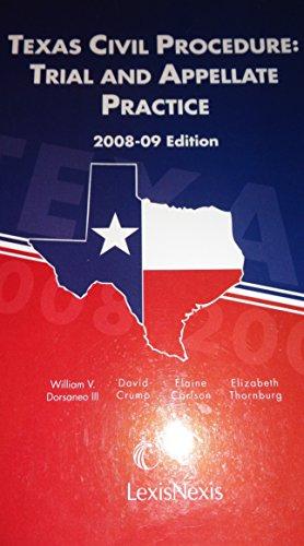 9781422425534: Texas Civil Procedure: Trial and Appellate Practice