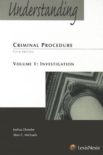 9781422426784: Understanding Criminal Procedure: Volume One, Investigation