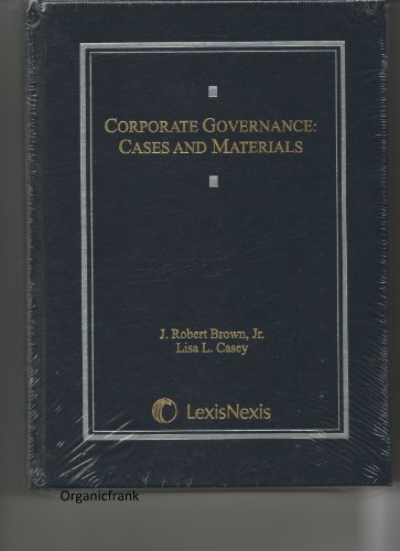 9781422426814: Corporate Governance: Cases and Materials