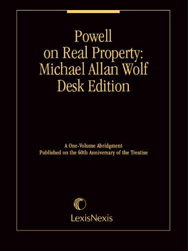 Powell on Real Property®: Michael Allan Wolf: Wolf, Michael Allan