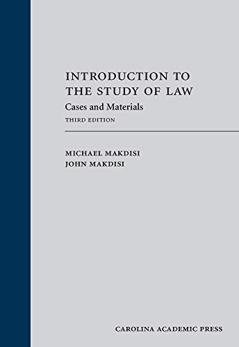 9781422428733: Introduction to the Study of Law