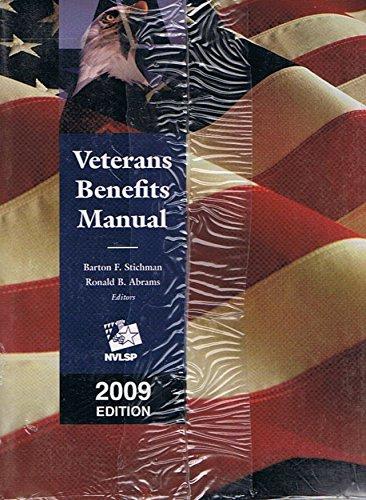 9781422461075: Veterans Benefits Manual, 2009 Edition