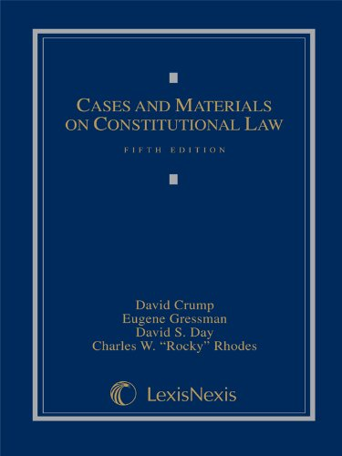 9781422470152: Cases and Materials on Constitutional Law, Fifth Edition