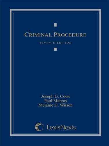 Criminal Procedure: Joseph G. Cook,