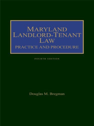 9781422475744: Maryland Landlord-Tenant: Practice and Procedure