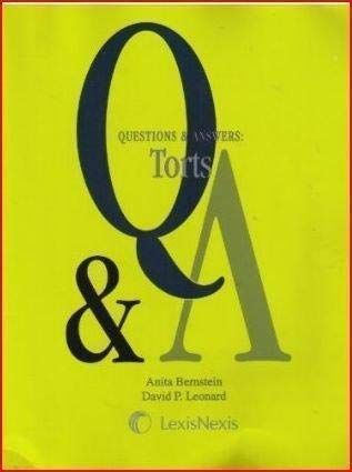 9781422476567: Questions & Answers: Torts