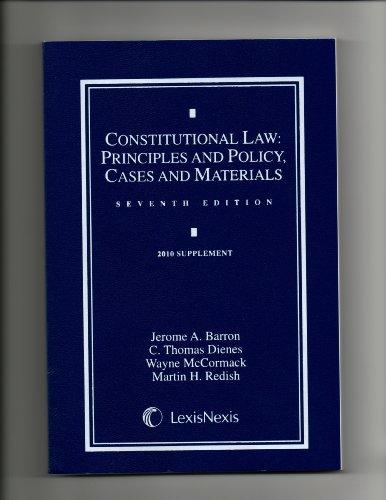9781422481547: CONSTITUTIONAL LAW-2010 SUPPLE