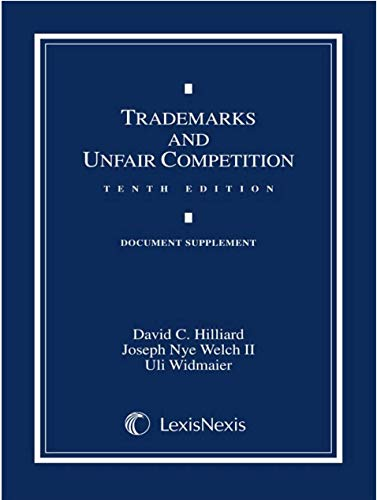 9781422481707: Trademarks and Unfair Competition : Document Supplement