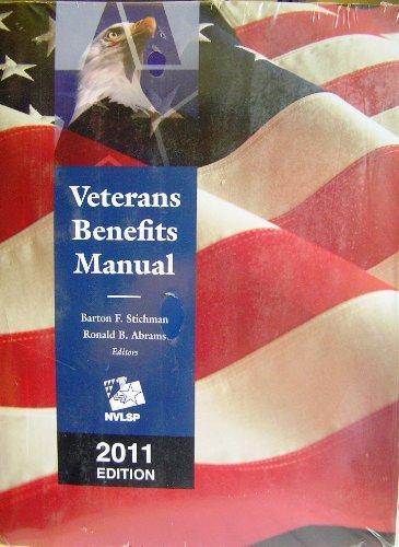 9781422488140: Veterans Benefits Manual, 2011 Edition