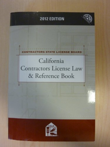 9781422498200: California Contractors License Law & Reference Book with CD-ROM