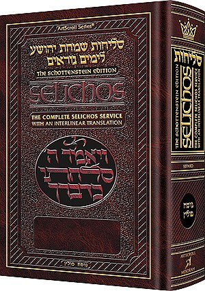 Schottenstein Edition Interlinear Selichos: Full Size Nusach: Rabbi Menachem Davis