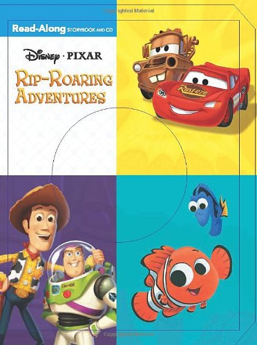 9781423120971: 3-In-1 Read-Along Storybook and CD: Disney.Pixar Rip-Roaring Adventures