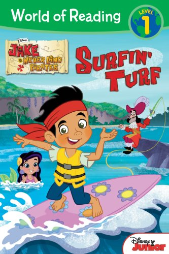 9781423163916: World of Reading: Jake and the Never Land Pirates Surfin' Turf: Level 1
