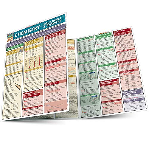 Chemistry Equations & Answers Laminate Reference Chart (Quickstudy Reference Guides - Academic)...