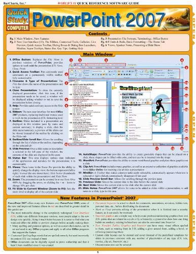 9781423202769: Quickstudy PowerPoint 2007: Quick Reference Software Guide