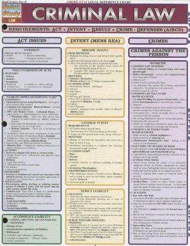 9781423203285: Criminal Law (Quick Study Academic) (Quickstudy: Law)
