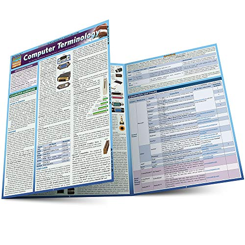 "Computer Terminology (Quickstudy: Computer) 9781423208631 Whether new to the world of computers―needing to know the difference between desktops and laptops, which video card is best, or how to guard against certain ""viruses""―or computer-savvy but just looking for a handy one-stop reference, this 3-panel (6-page) guide is for all users! The latest, most comprehensive information contained within includes such topics as: · Computer Hardware · Monitors · CPU (Central Processing Unit) · RAM (Random Access Memory) · Hard Drives · Battery · Wireless Standards · Docking Stations · Ports · Printers · Computer Software · Internet · Web Browsers · And much more!"
