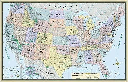9781423220824: U.S. Map-Paper