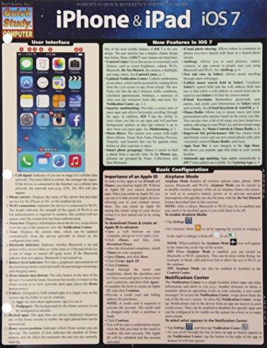 9781423222927: Iphone & Ipad- Ios 7 (Quick Study Computer)