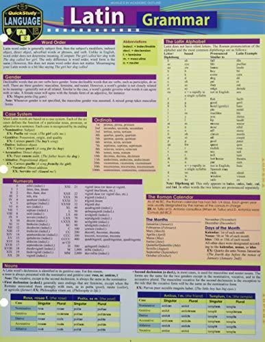 Latin Grammar: A Quickstudy Language Reference Guide: Jacobs, Rachel, Arnet,