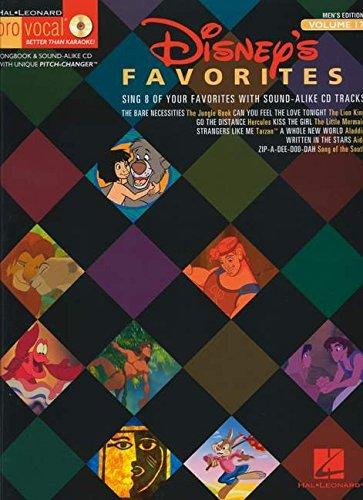 9781423401117: Disney Favorites - Pro Vocal Songbook & CD for Male Singers Volume 17 (Pro Vocal Men's Edition) (Hal Leonard Pro Vocal: Men's Edition)