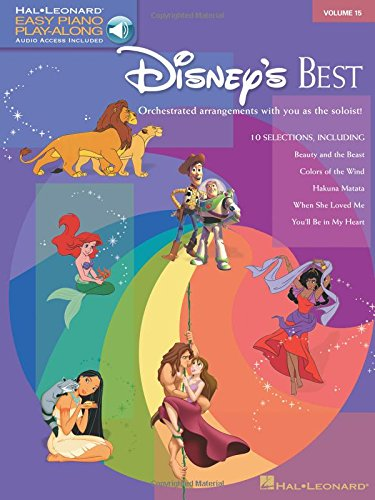 9781423401384: Disney's Best: Easy Piano Play-Along Volume 15 (Easy Piano CD Play Along)