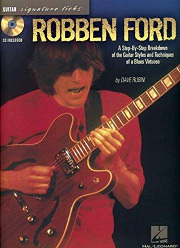 9781423401759: Robben Ford Signature Licks Tab Book/Cd.