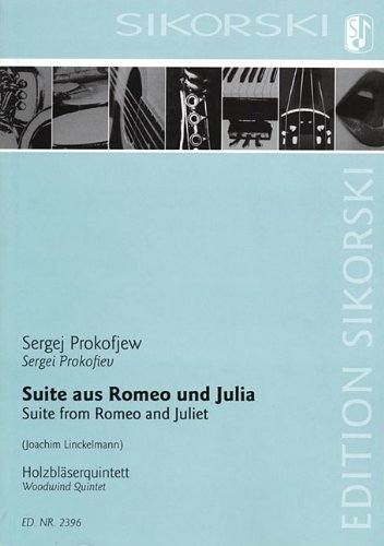 9781423402015: Suite from Romeo and Juliet: Woodwind Quintet Score and Parts
