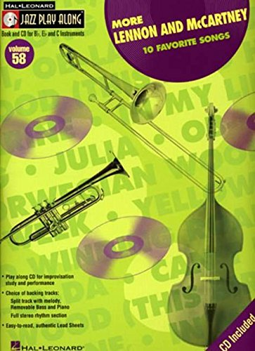 9781423402886: More Lennon and McCartney: Jazz Play-Along Volume 58