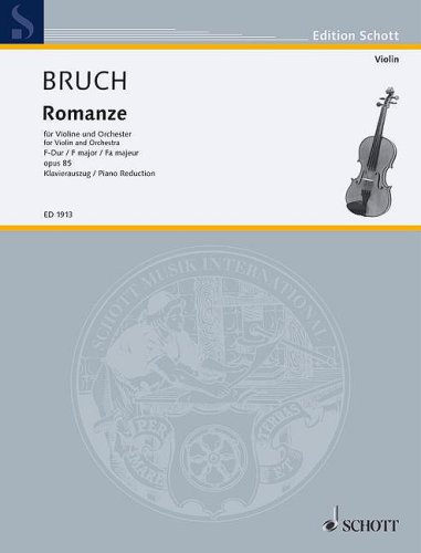 9781423403593: Romanze in F Major Op. 85: for Violin and Orchestra (Piano Reduction and Solo Part)