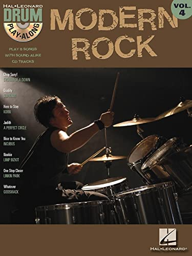 Modern Rock: Drum Play-Along Volume 4 (Hal Leonard Drum Paly Along) (1423404327) by Hal Leonard Corp.