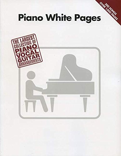 9781423404682: Piano White Pages: The Largest Collection of Piano/Vocal/Guitar Arrangements