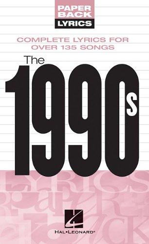 9781423411963: The 1990s: Paperback Lyrics