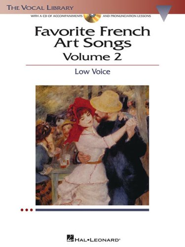 9781423412243: Favorite French Art Songs: Volume 2 - Low Voice (The Vocal Library Series)