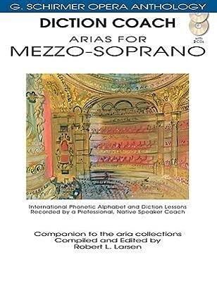 9781423413097: Diction Coach Arias for Mezzo-Soprano G Schirmer Opera Anthology (Diction Coach, G. Schirmer Opera Anthology)