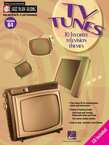 9781423413424: TV TUNES VOLUME 64 BK/CD 10 FAVORITE TELEVISION THEMES (Hal Leonard Jazz Play-Along)