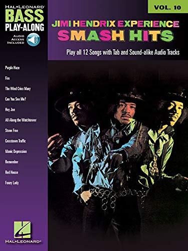 9781423414209: Bass Play Along Volume 10: Jimi Hendrix Smash Hits (Book and CD) (Book & CD)
