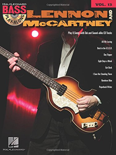 9781423414216: Hal Leonard Bass Playalong Volume 13 Lennon And Mccartney Bgtr Book/C