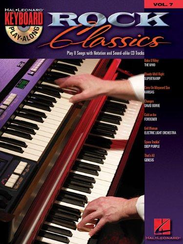 Rock Classics Vol.7 Keyboard Play-Along BK/CD: Hal Leonard Corp.